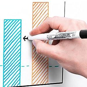BIC Velleda 1741 - Caja de 8 unidades, marcadores de pizarra punta media, colores surtidos: Amazon.es: Oficina y papelería