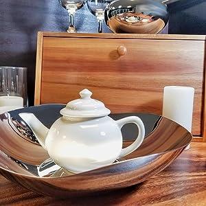 Lipper 1909, Large Shallow Wavy Bowl, Decorative Bowl, Kitchen decor, Decorative Accents, home decor