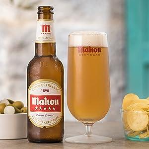 Mahou 5 Estrellas Cerveza Dorada Lager, 5.5% de volumen de alcohol - Lata de 33 cl