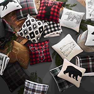 throw pillows;decorative pillows;pillows;lodge pillows;novelty pillows;animal pillows;plaid pillows