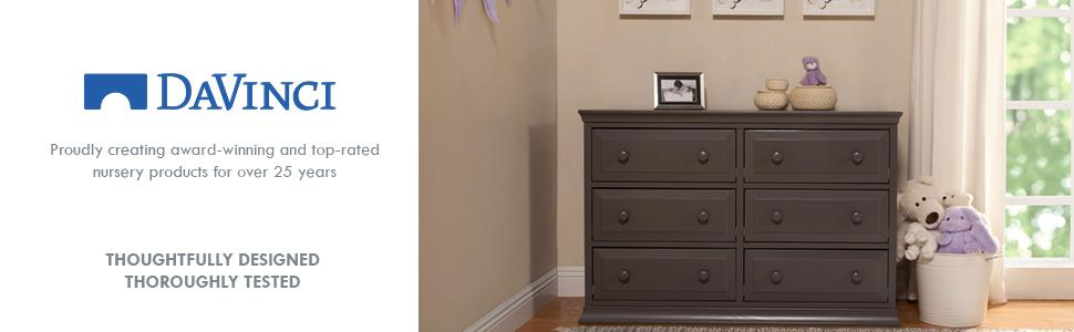 Amazon Com Davinci Signature 6 Drawer Double Dresser