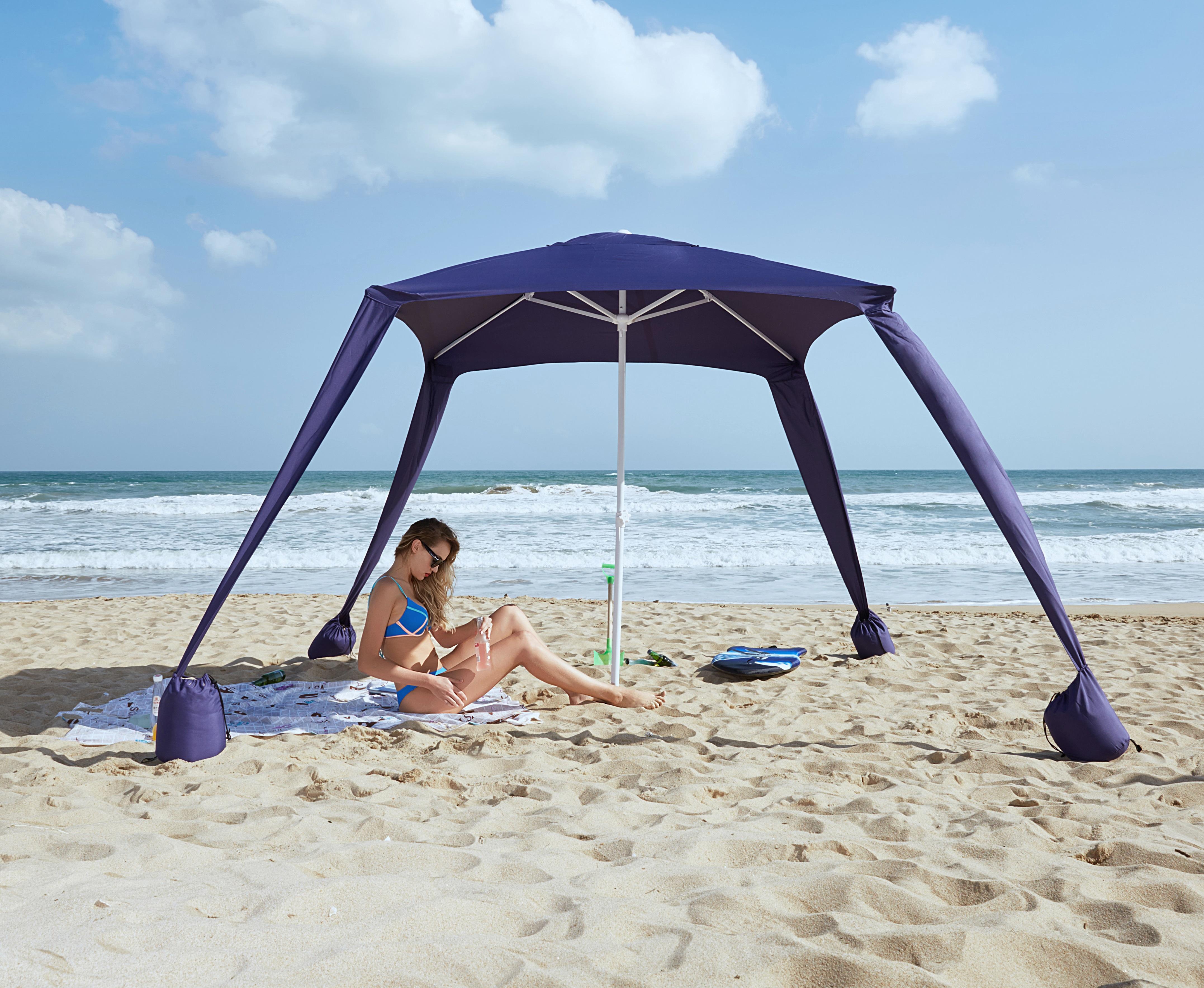 Amazon Com Ammsun Ts72010 B Beach Umbrella Sports Cabana