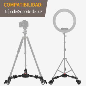 Candados ajustables para bloquear el trípode o el soporte de luz.