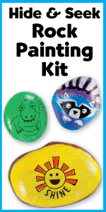 Rock Painting Kit, Creativity for Kids, Arts and Craft, crafts fir kids, outdoor toys, art supplies