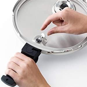 Fissler Schnellkochtopf Glasdeckel  Zusatzdeckel Topfdeckel Ersatzdeckel 24-28cm
