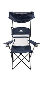 Sun Shade Folding Camp Chair