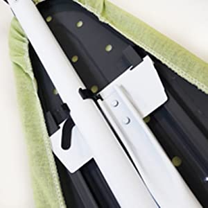 metal steel plastic iron lock leg transport easy to move fold space saving sleek simple laundry room