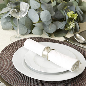 metallic holiday placesetting charger christmas new years eve thanksgiving