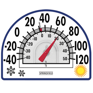 outdoor indoor dial thermometer mountable large numbers big temperature decorative clock for home