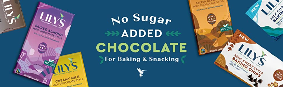 no sugar added chocolate for baking and snacking
