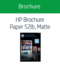 HP Brochure Paper 52lb, Matte