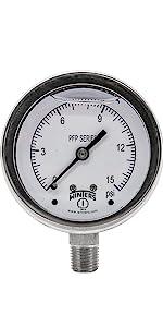 Pressure Gauge, Pressure Gauges, Stainless Steel Pressure Gauges, Liquid Filled Pressure Gauges