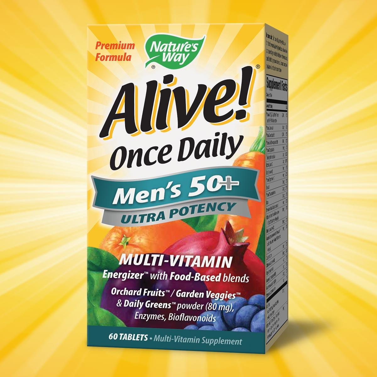 Nature S Way Alive Once Daily Men S
