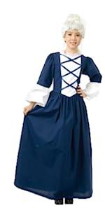 Girls Colonial Lady Costume Dress