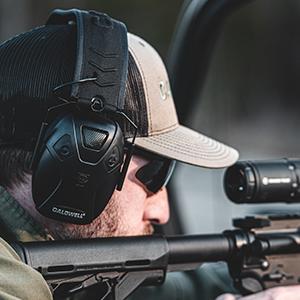 Muffs earmuffs earmuff plug plugs Bluetooth rest bag bags sling slings E-max e max lo pro gun guns