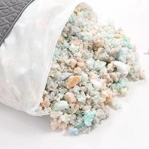 shredded breathecool foam u0026 memory foam