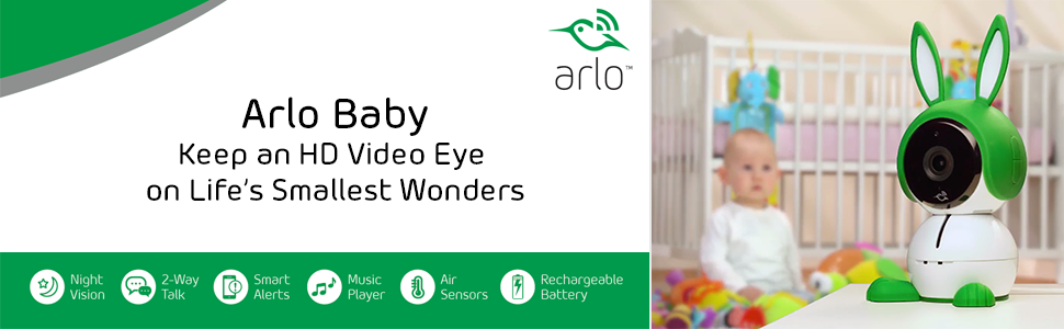 Netgear Abc1000 Arlo Baby Smart Hd Baby Monitoring Camera