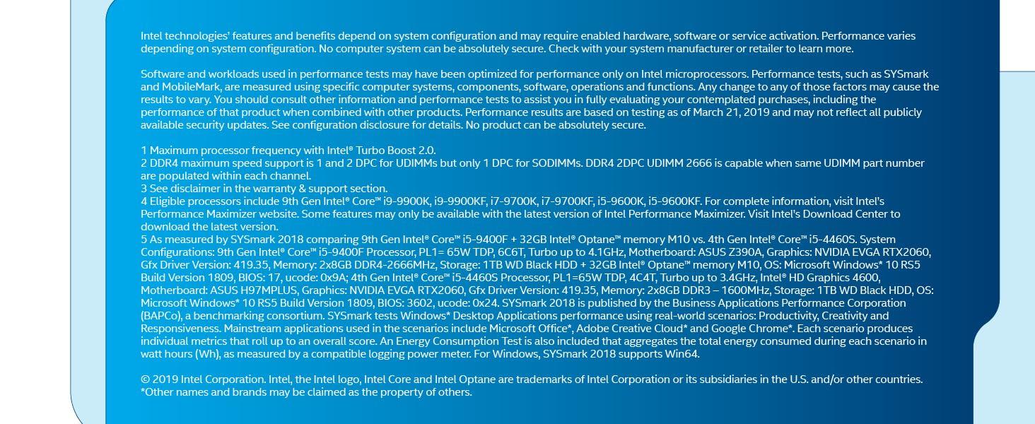 9th Gen Intel Core i5-9400F boxed desktop processor