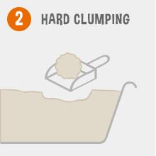 Hard clumping, hard clump; rock clump; Grafield Cat Litter