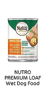 Nutro Premium Loaf Wet Dog Food, Soft Dog Food, Wet Food, Cans, Canned Dog Food, Adult Dogs, Protein