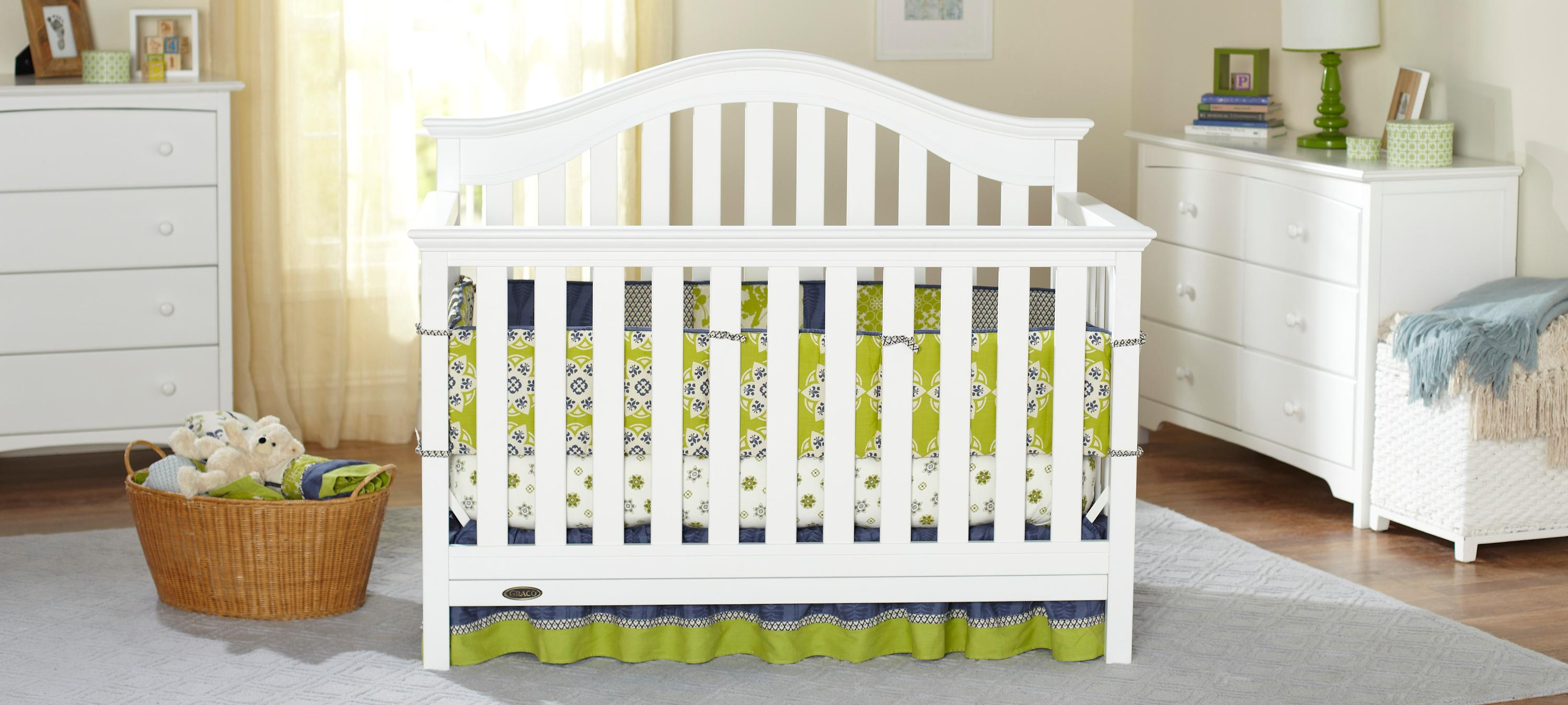 bed in baby crib jpma whitegrey turns right products powered by white zone grey tribeca toddler into safety