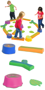 Amazon.com: edx Education Step-a-Logs - Balance Beam for