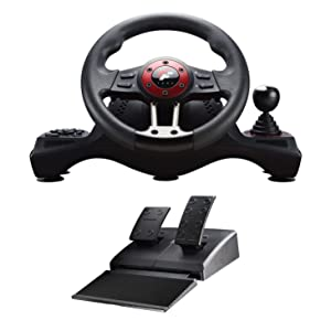 Flashfire 4-in-1 Force Racing Wheel Set, compatible with PC