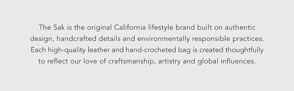The Sak, Bags, Environmental, leather, crochet, craftsmanship