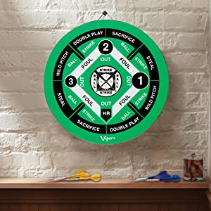 Amazon Com Viper Double Play 2 In 1 Baseball Dartboard With Darts