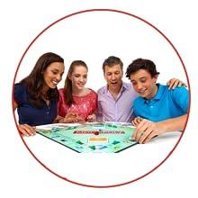 family spielt monopoly