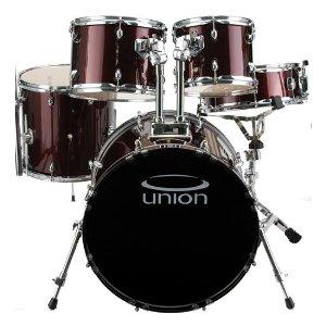 union db5770 wr 5 piece jazz rock blues drum set with hardware cymbals and throne. Black Bedroom Furniture Sets. Home Design Ideas