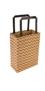 These large paper bags are made out of kraft paper that is naturally durable and recyclable.