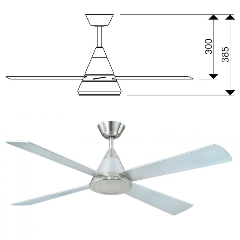 Ventilateur de plafond basse consommation cosmos 132 cm - Ventilateur de plafond avec eclairage ...