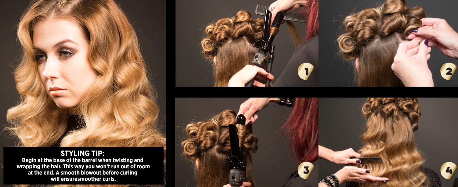long lasting curls, hair curling, black gold, professional, salon