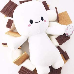 marhsmallows chocolate graham cracker kawaii cute plush toy stuffed animal food adorable