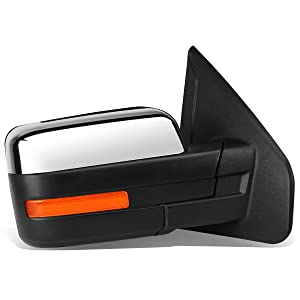 DNA Motoring TWM-019-T999-CH-AM-R Towing Side Mirror