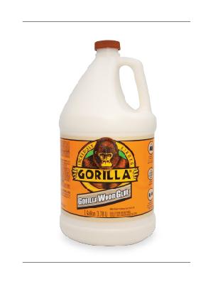 gorilla wood glue bottle 4oz liquid gallon pva furniture woodworking white yellow dark hard tropical