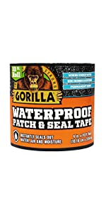 Gorilla Waterproof Patch and Seal Tape Black and White Combo