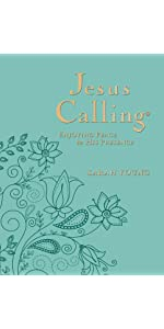 Jesus Calling, Larger Print, Teal Leathersoft