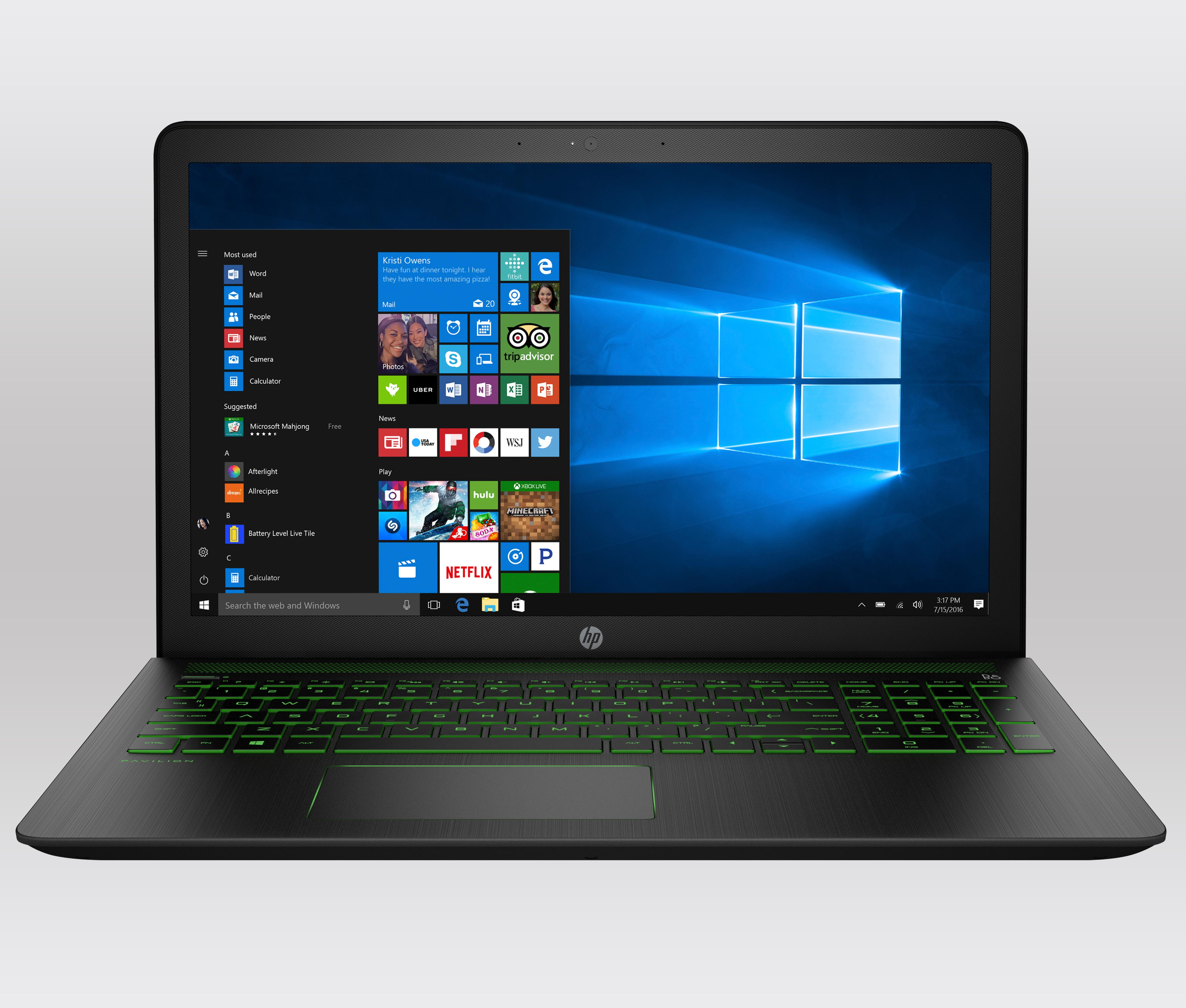 hp pavilion power 15 cb003na 15 inch fhd gaming laptop shadow black intel i5 7300hq 8gb. Black Bedroom Furniture Sets. Home Design Ideas