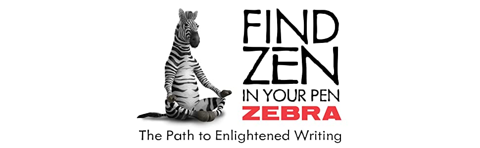 zebra pen brand logo, find zen in your zebra pen, the path to enlightened writing, zebra pens