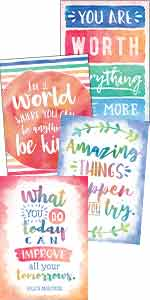 watercolor positive posters pack