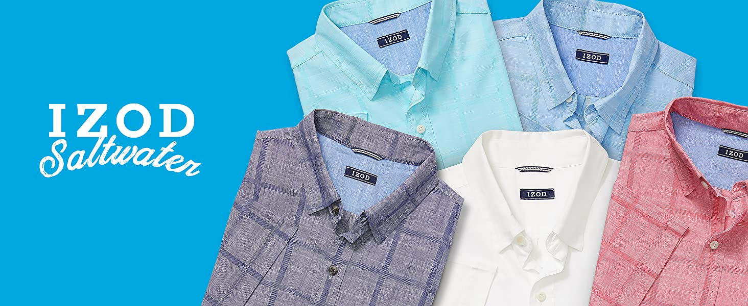 Saltwater Short Sleeve Windowpane Button Down Shirt