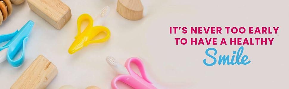 Baby Banana, baby toothbrush, baby teether, baby brush, banana toothbrush
