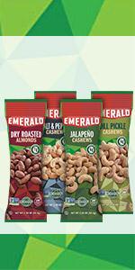 trail mix, nut mix, emerald nuts, nut blend
