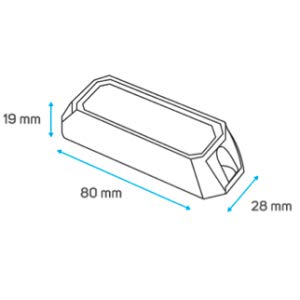 Beeper - Focos rectangulares, color blanco BPRO-173-3B: Amazon.es ...
