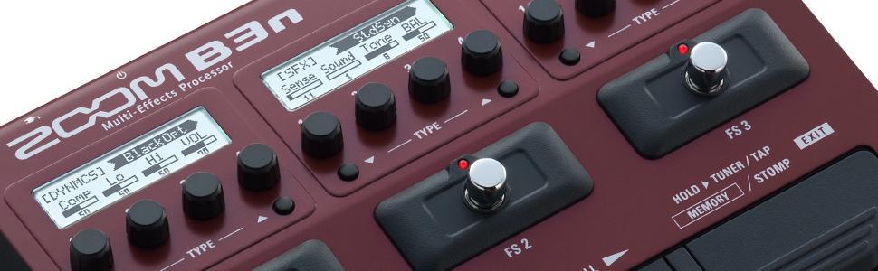 Zoom B3n Bass Multi-Effects Guitar Processor 1