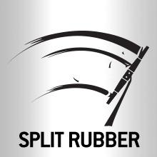 Wiper blades with split rubber