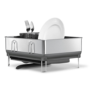 compact stainless steel dishrack