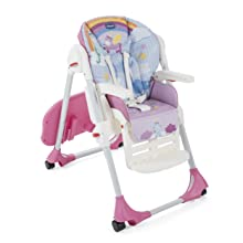 Romantic Multi Height Chicco Polly Easy Highchair 4Wheel
